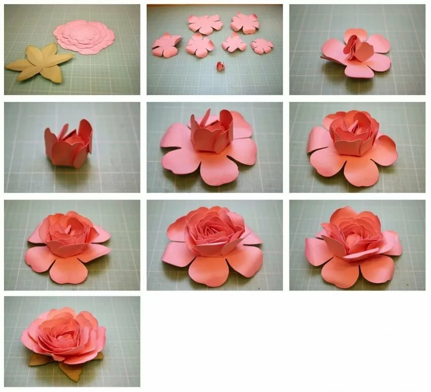 цветочек из бумаги своими руками для открытки недавнем
