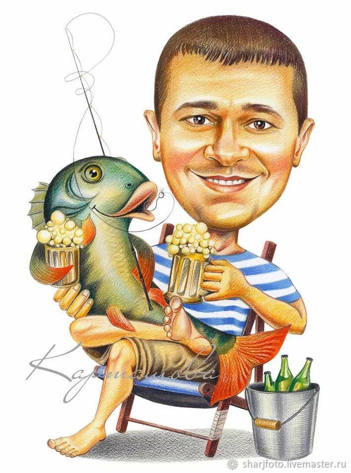 Открытка 60 лет рыбаку мужчине