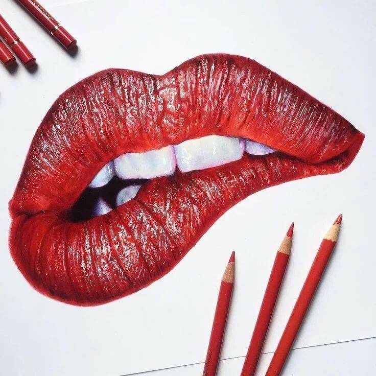 Картинки губ нарисованные