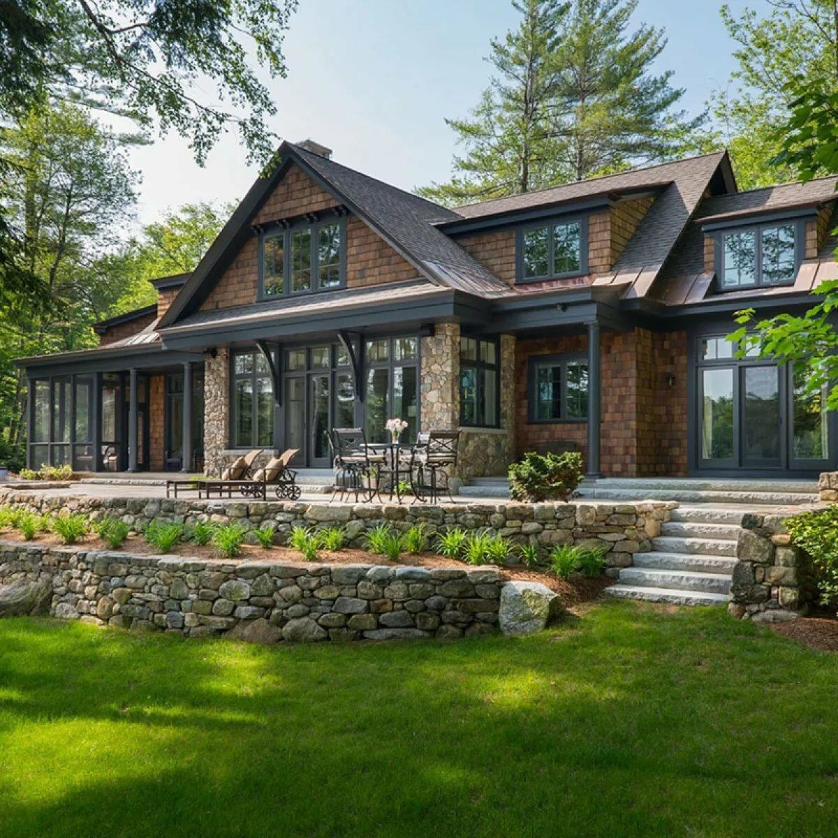 современный деревенский дом фото
