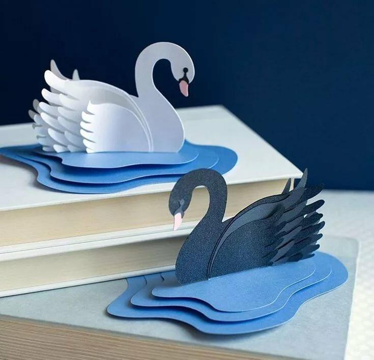 Картинка с лебедем своими руками