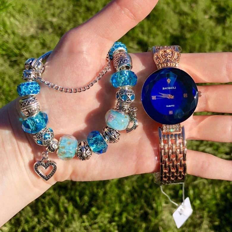 Часы Baosaili и браслет Pandora в подарок в Абакане