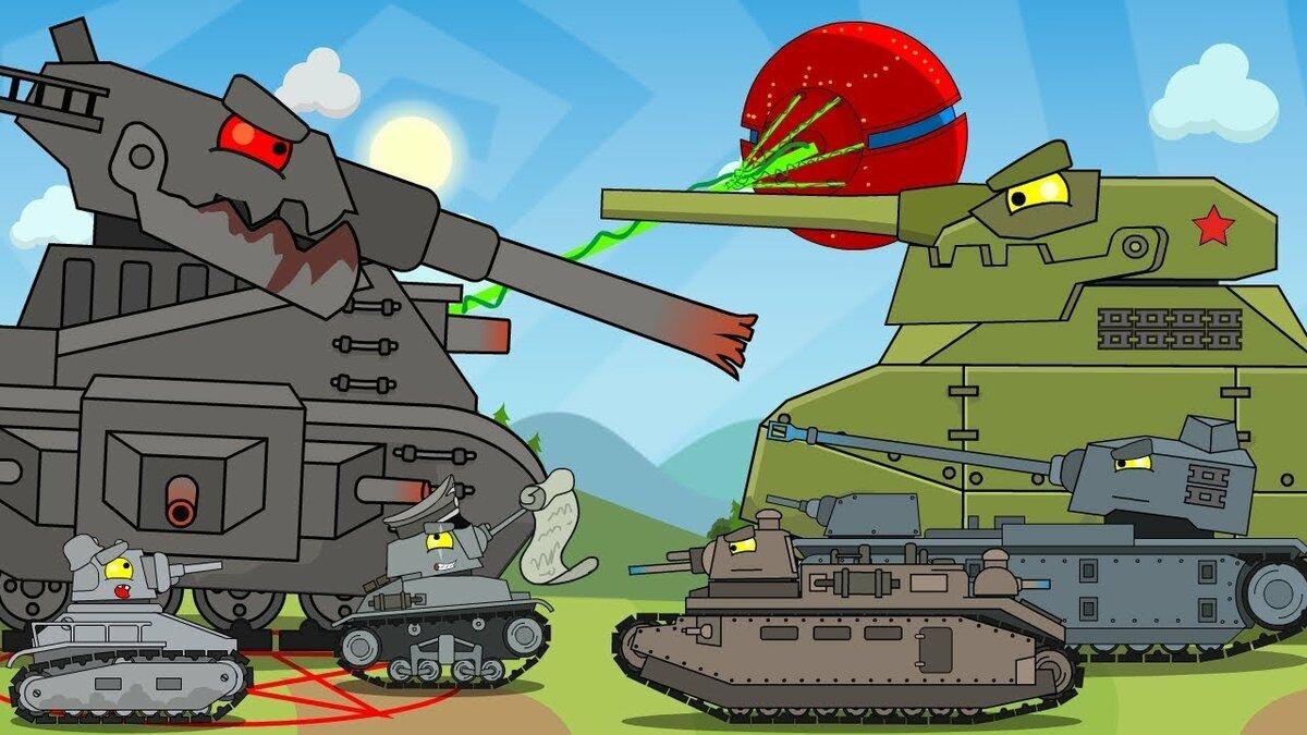 Картинки из мультики про танки