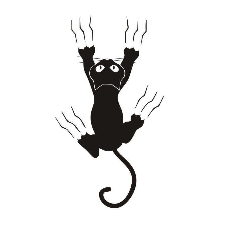 черный кот картинки на стену также можете