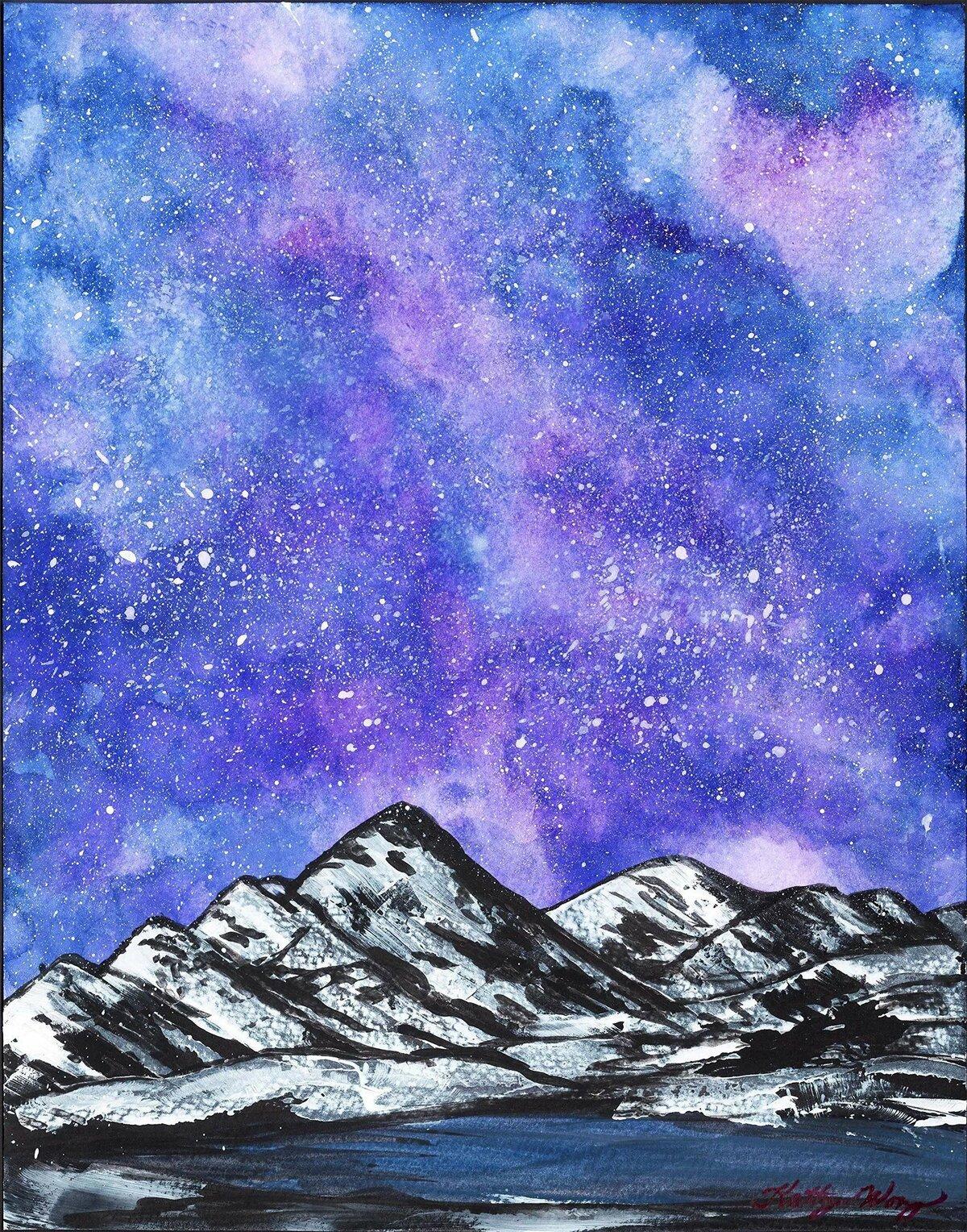 Звездное небо нарисованные картинки