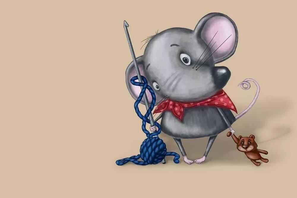 Веселый мышонок рисунок, для срисовки карандашом