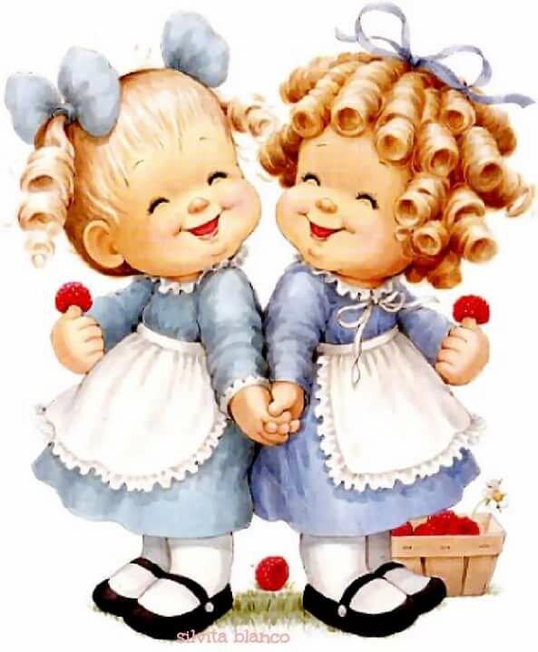 Поздравления с днем рождения близнецам женщинам картинки