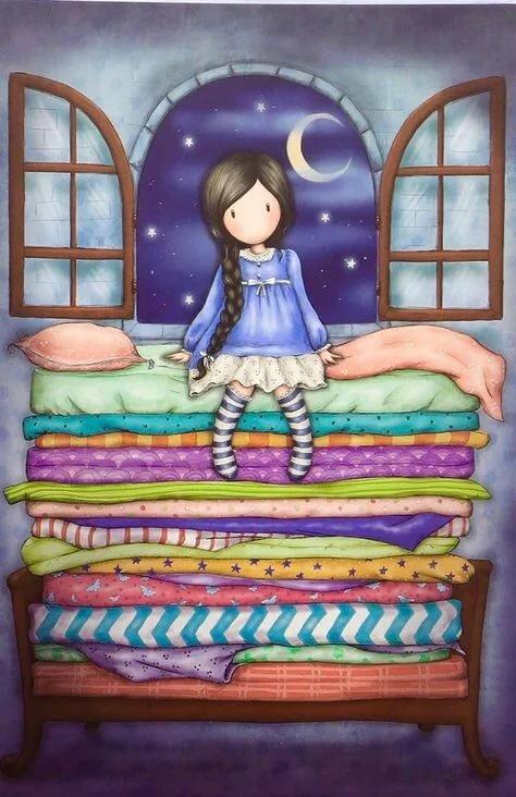 Красивые открытки спокойной ночи принцесса, картинки