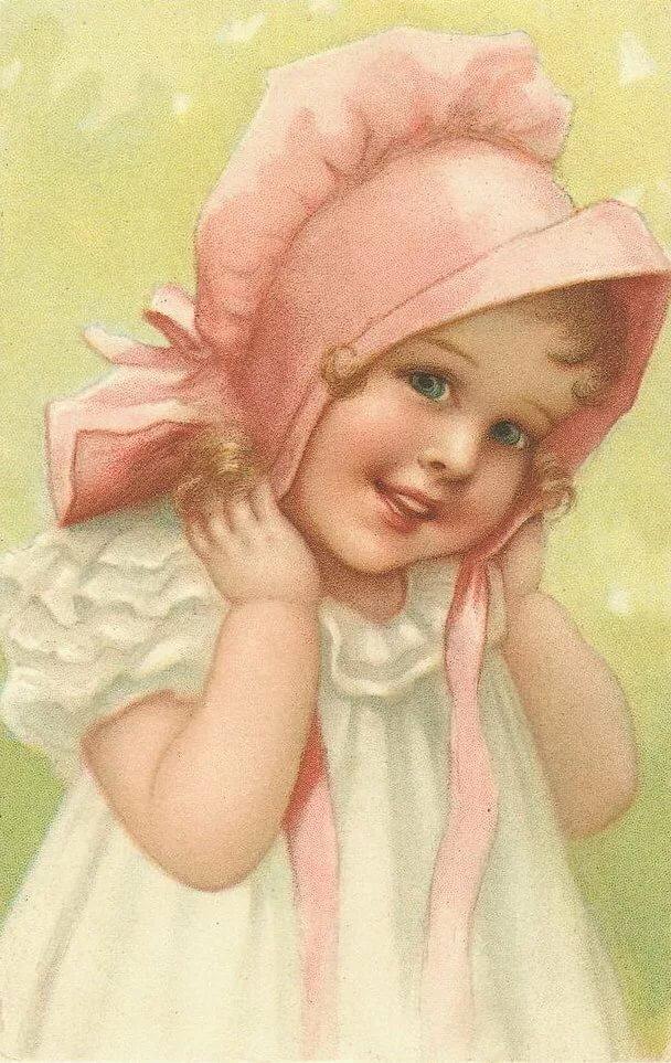 Открытки младенцев девочек