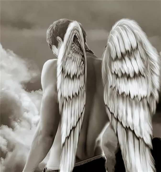 что картинки ангел мужчина и человека они