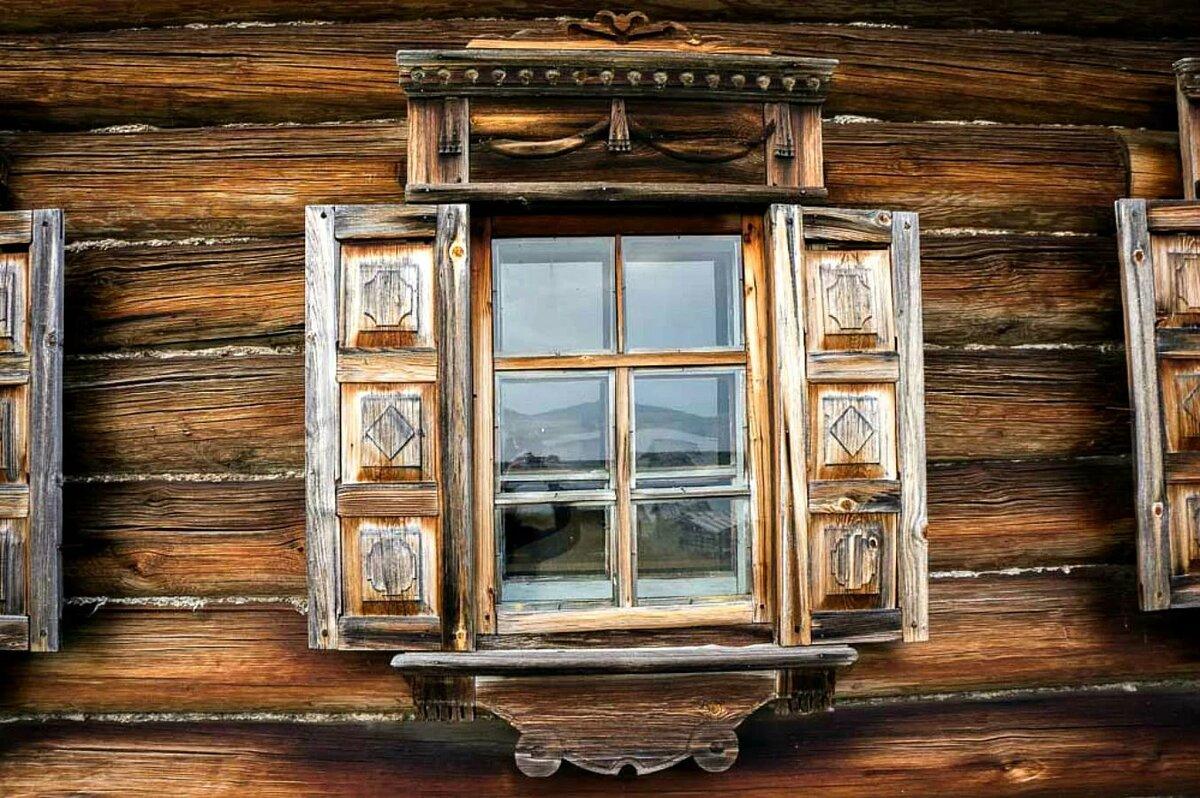 домик со ставнями картинка часы