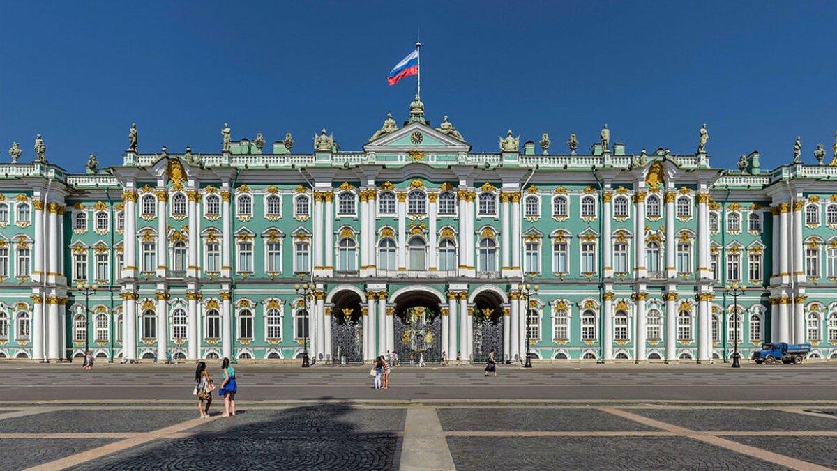 Открытка зимний дворец