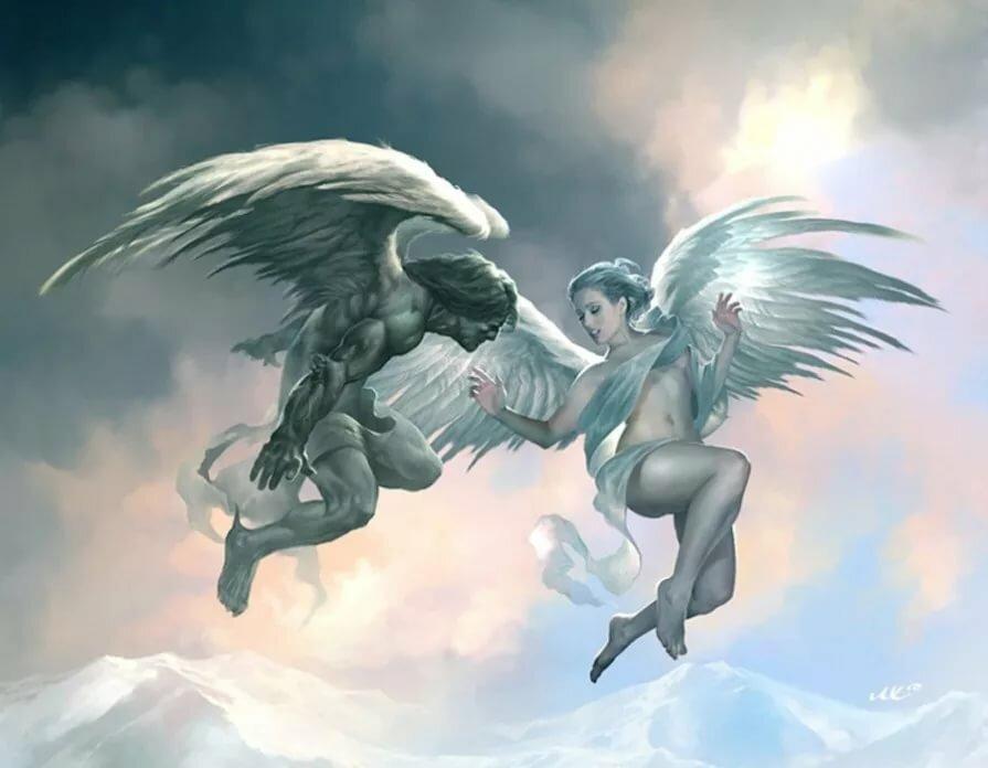 резьба картинки бес и ангел прощания