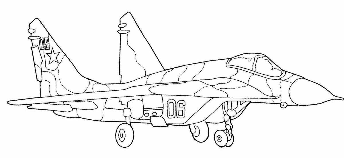 «Раскраски самолётов для мальчиков. Распечатать можно ...