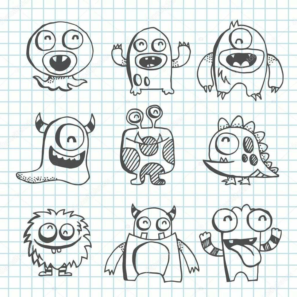 Как нарисовать смешную картинку карандашом поэтапно, картинки