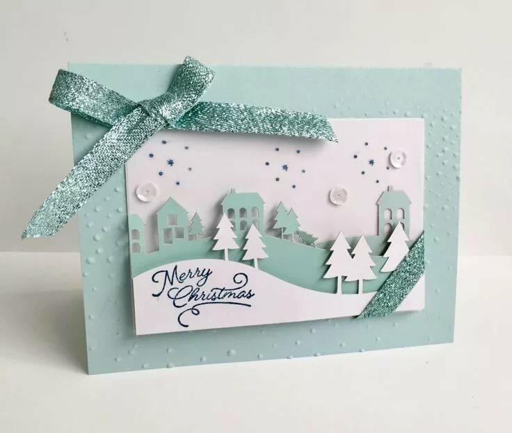рождественские открытки самодельные где примут