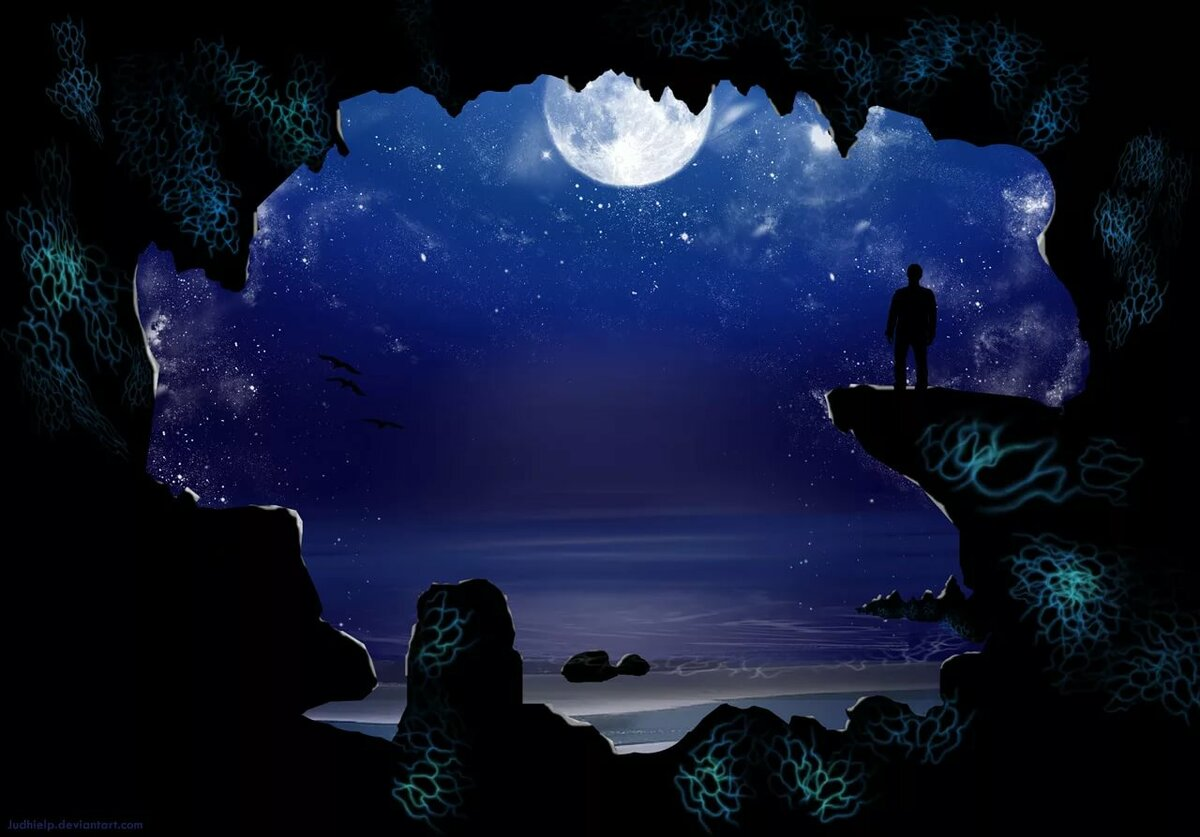 Картинка романтические ночи, спать прикольные
