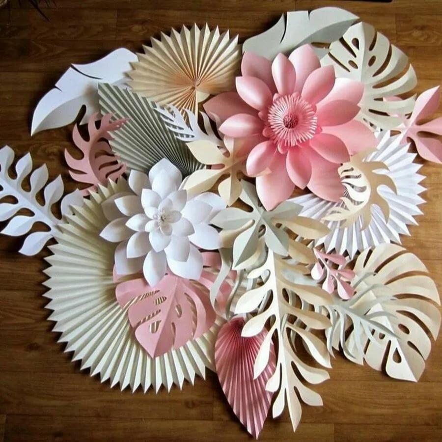 Картинка с цветами из бумаги своими руками
