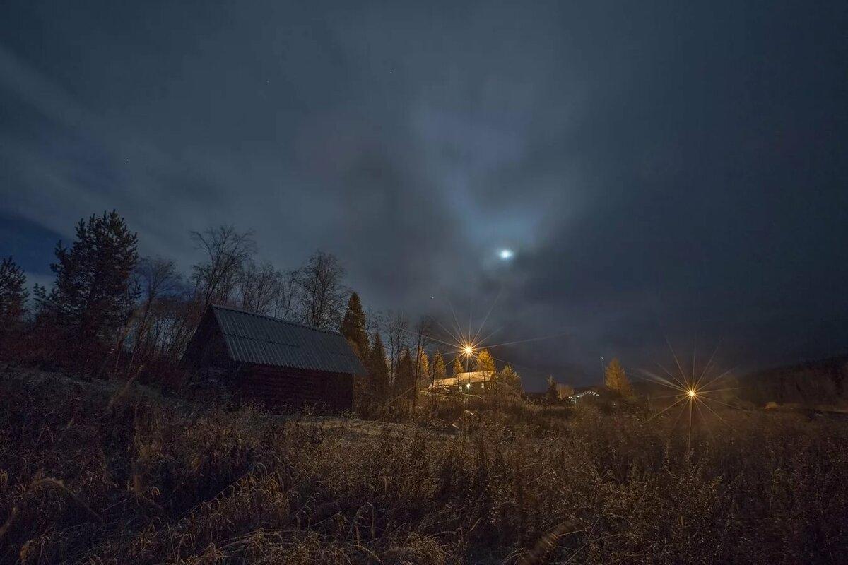 Картинки летняя ночь в деревне