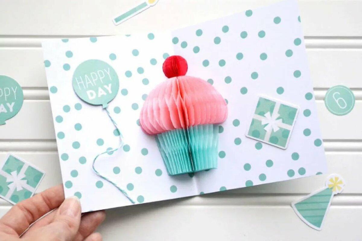Объемная открытка для тети на день рождения, чечня