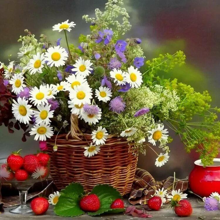 Картинки с надписью чудесного дня с цветами, днем