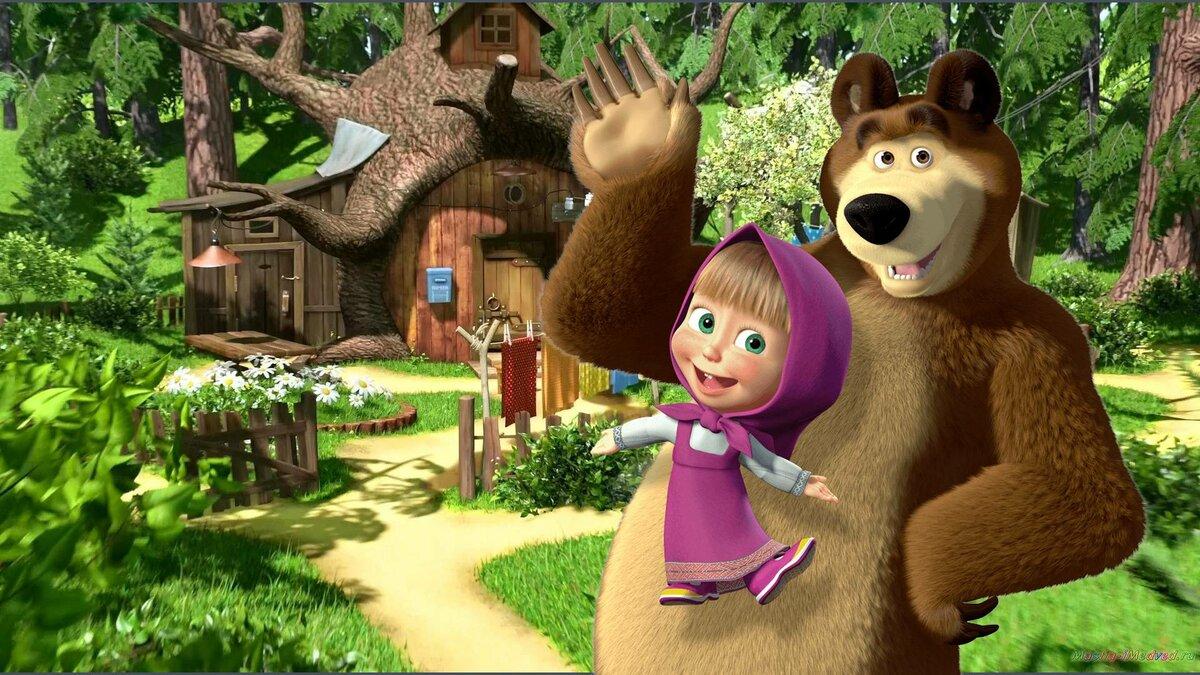 Открытки маша и медведь все серии