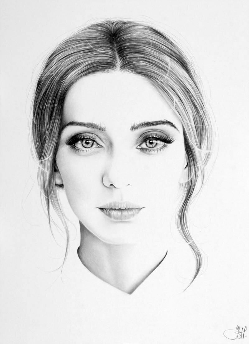 Рисунки простым карандашом женщины