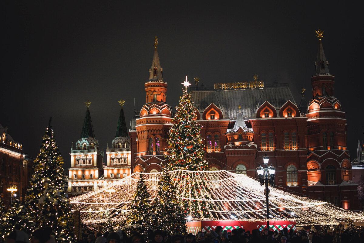 Картинки новогодней москвы на рабочий стол