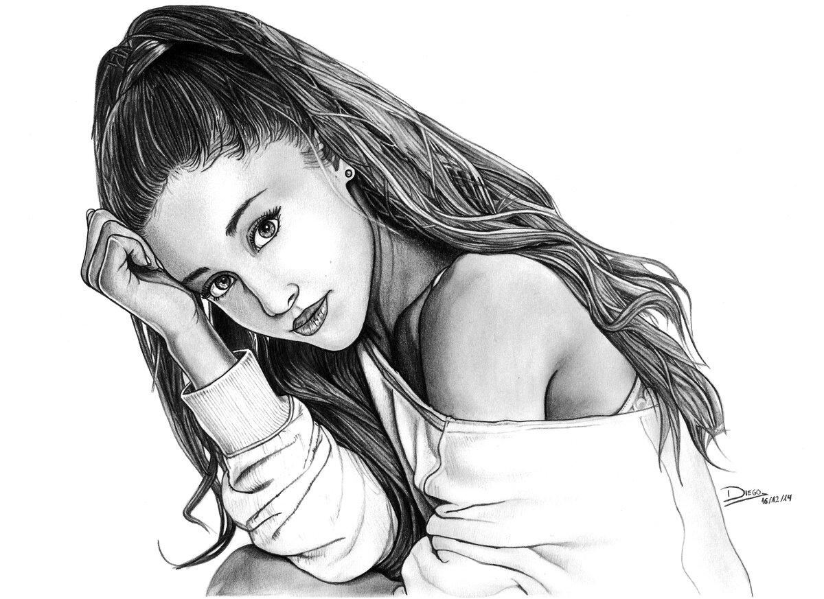 Прикольный рисунок девушки карандашом, иваново руб