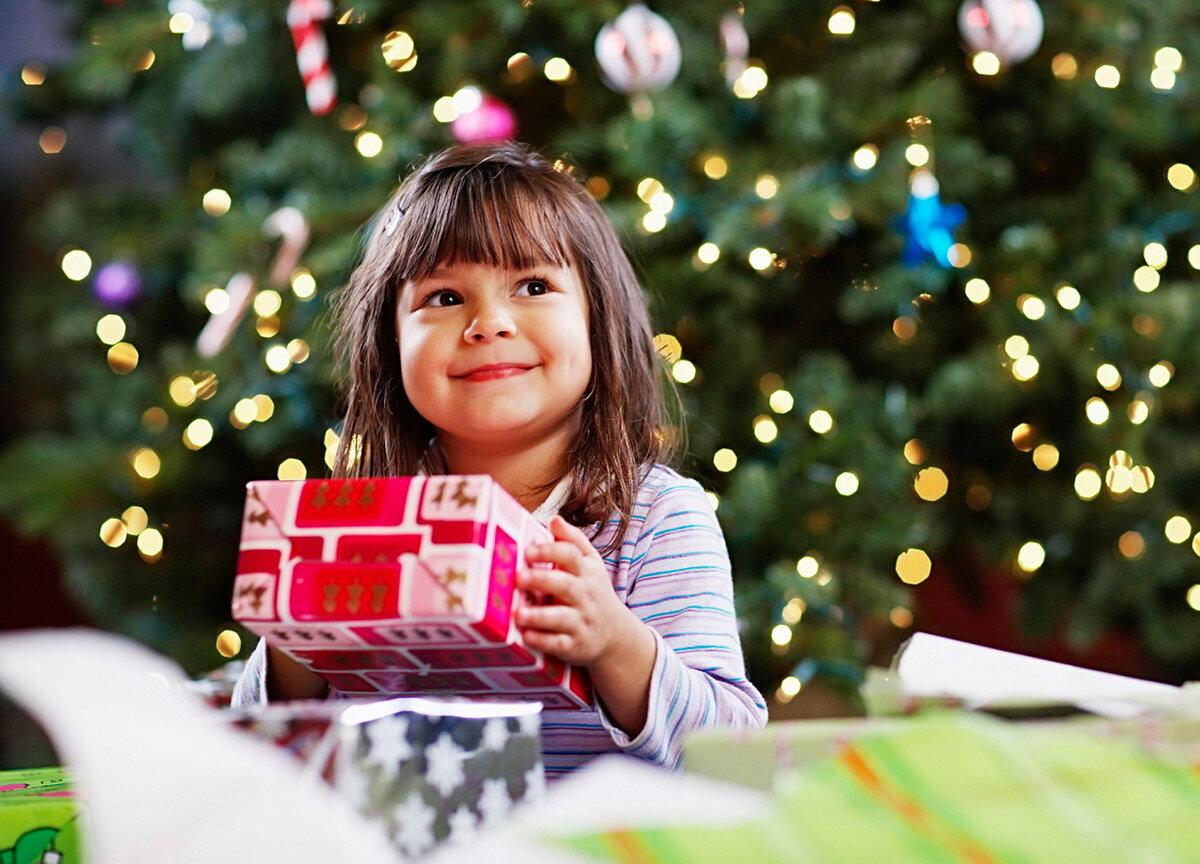 Подарки ребенку на новый год картинки
