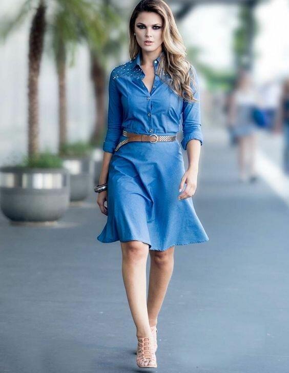 f177f1e0f0c Деним отличается высокой плотностью. Поэтому любое джинсовое платье ...