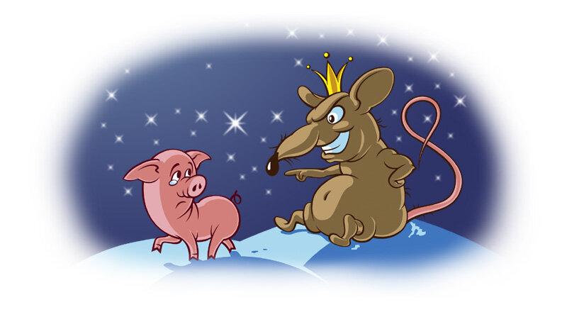 Новогодние открытки знаки зодиака