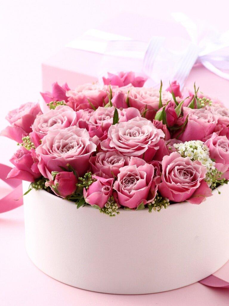 Картинки, красивая открытка с днем рождения девушке с цветами