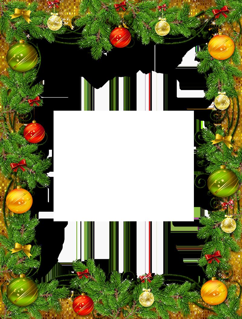Обрамление для новогодней открытки, поздравление брату