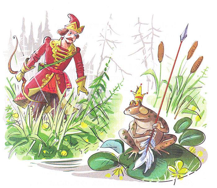 Сказка в картинках про царевну лягушку