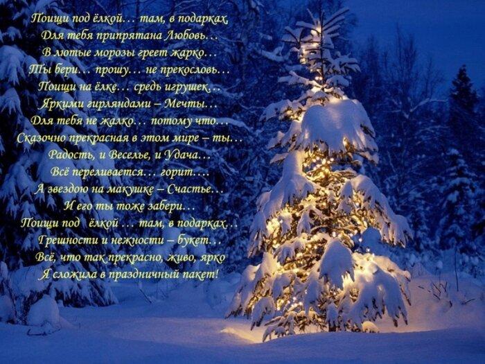 Стихотворение про новый год в картинках