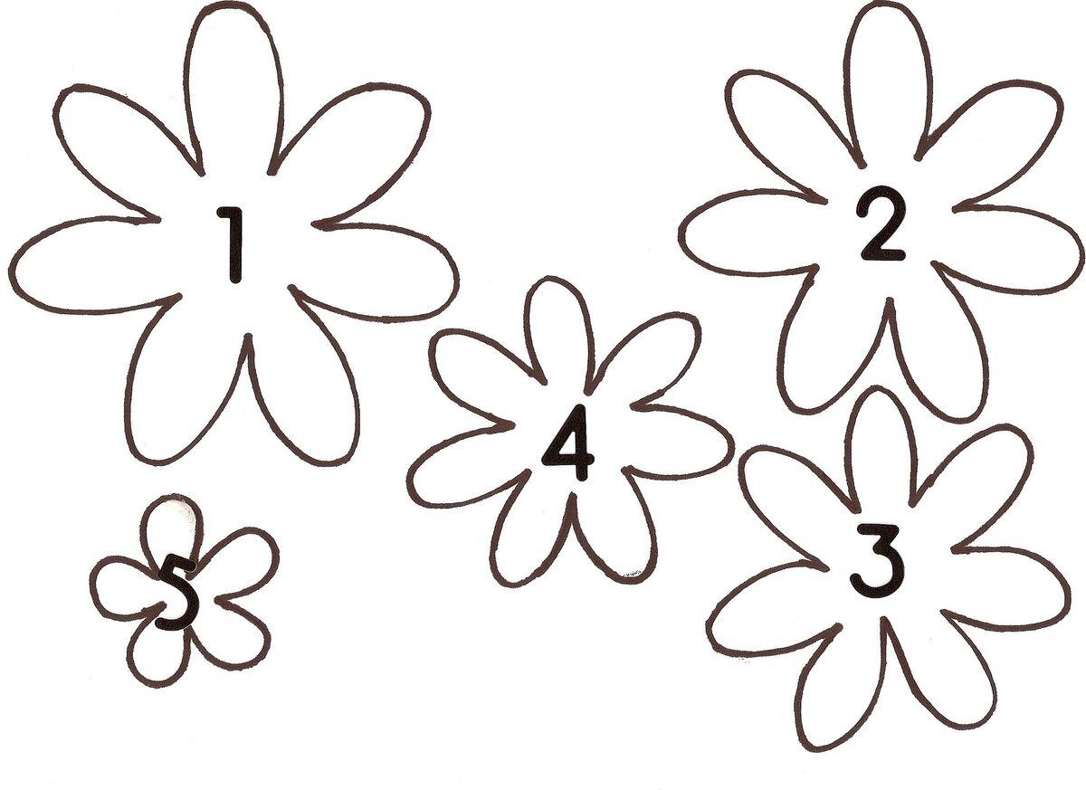 Картинки цветы распечатать и вырезать