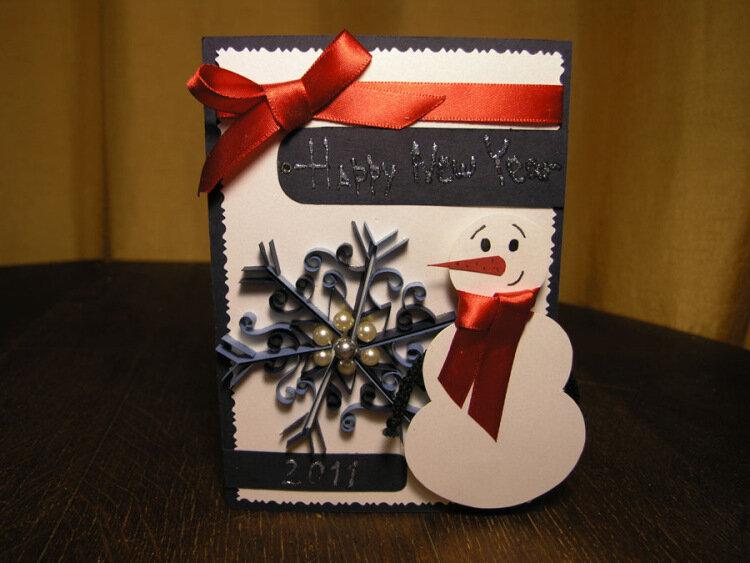 Рождественская открытка своими руками на английском