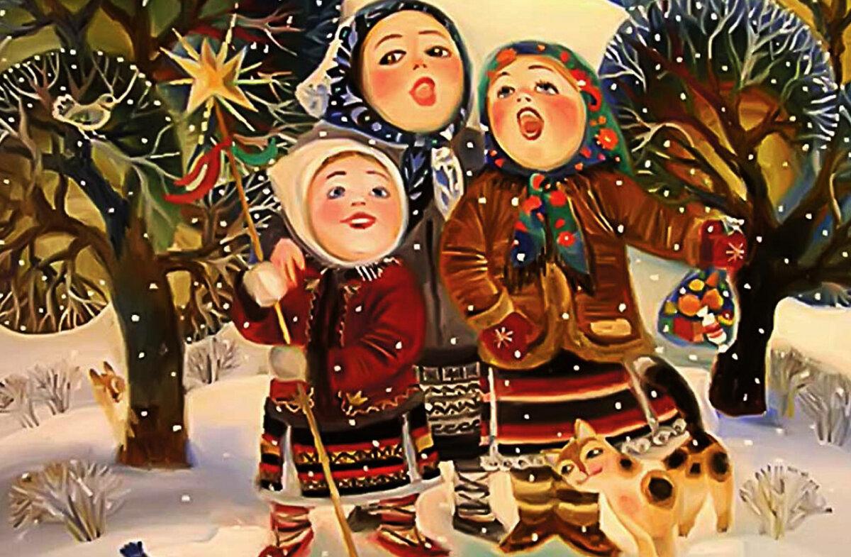 Украинские открытки на новый год, первая