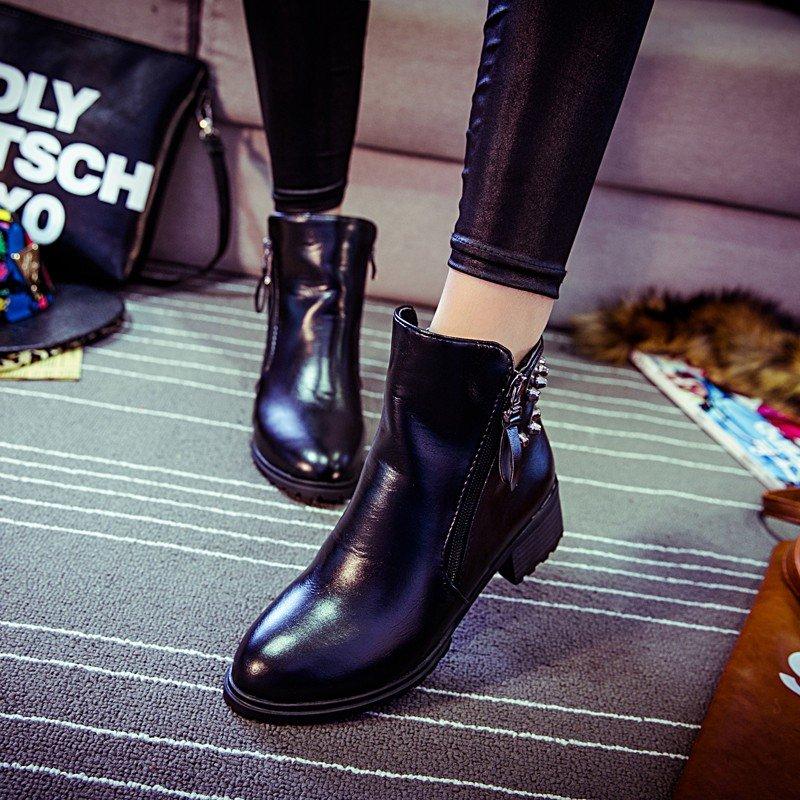 женские осенние ботинки без каблука фото розовом бриллианте