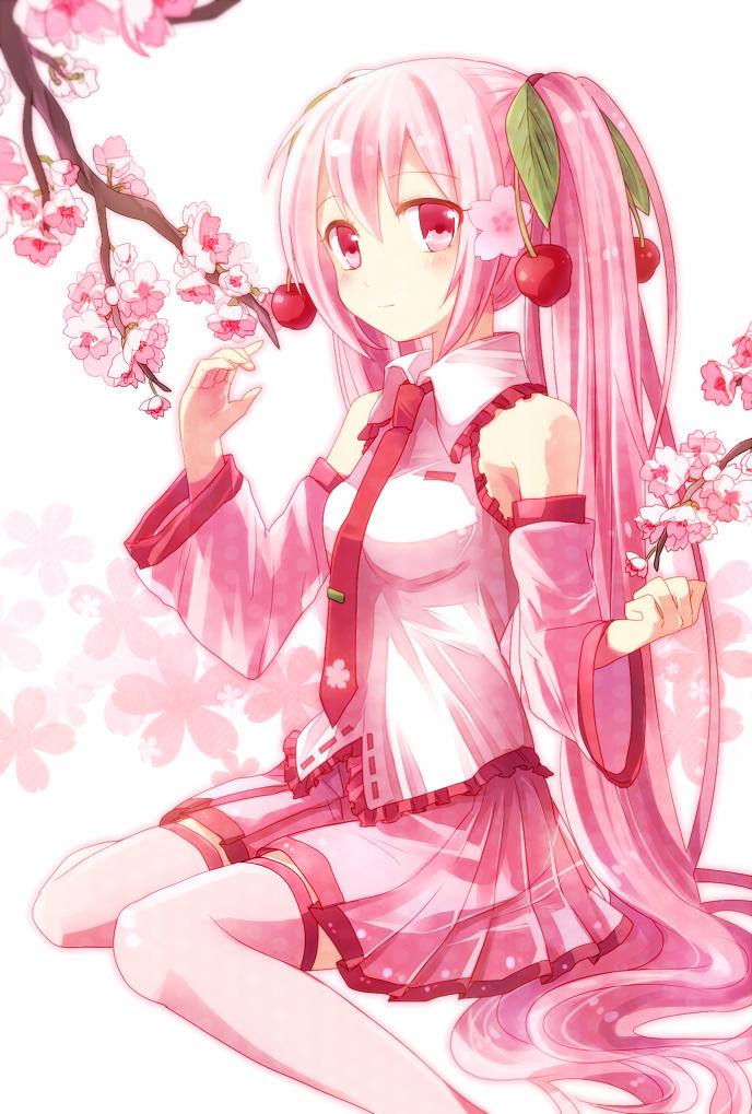 Картинки про аниме розовых