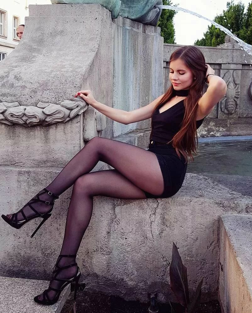 Young girls in stockings heels #15