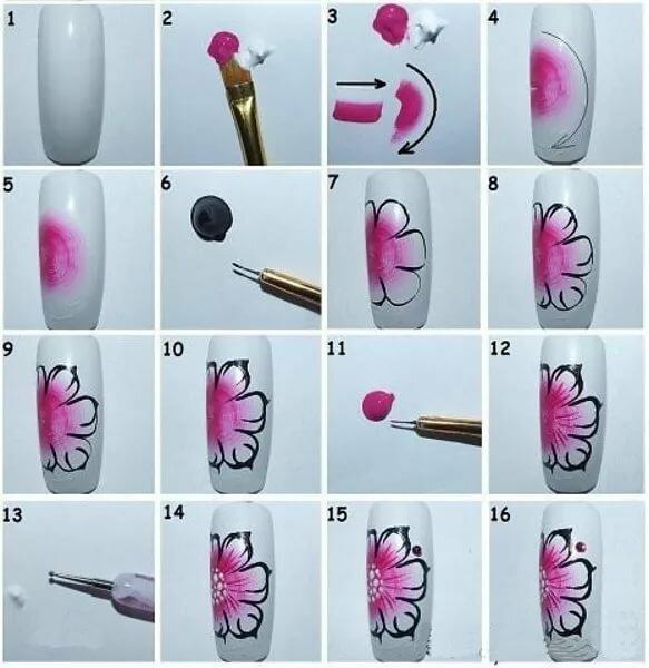 рисунки на ногти картинки поэтапно для начинающих паше так называется