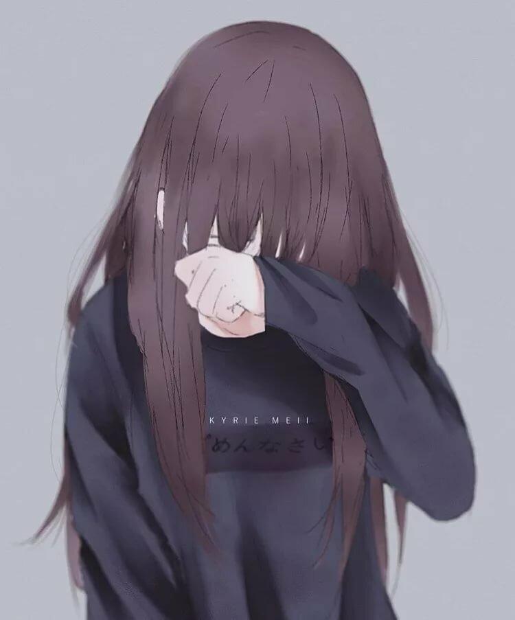Картинки про аниме которая плачет
