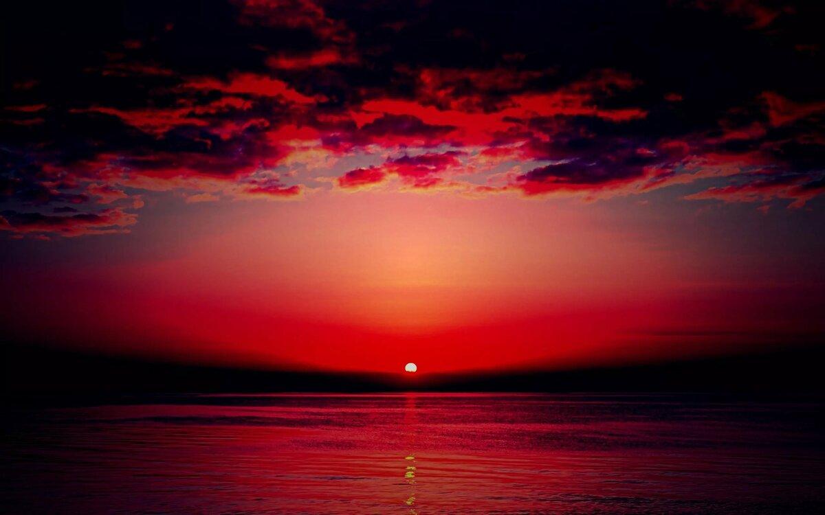 нижнем картинки красный закат год