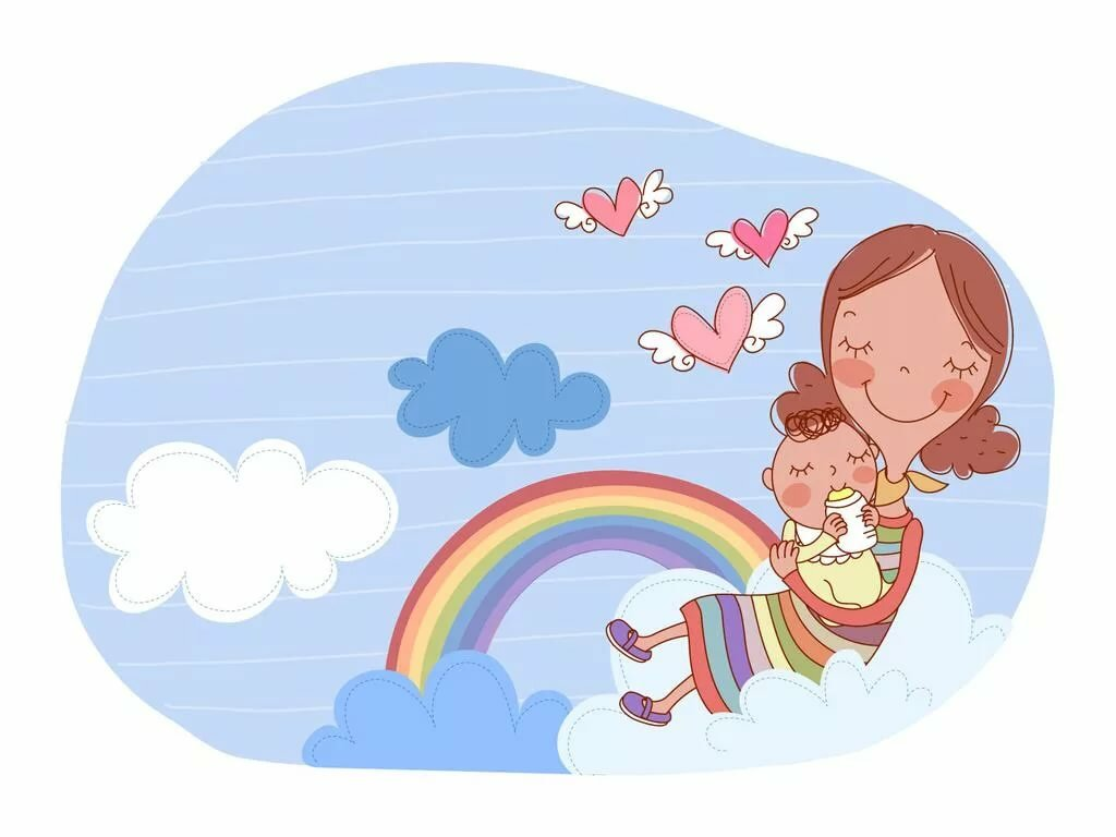 Картинки про маму и детей мультяшные, смешные надписями матом