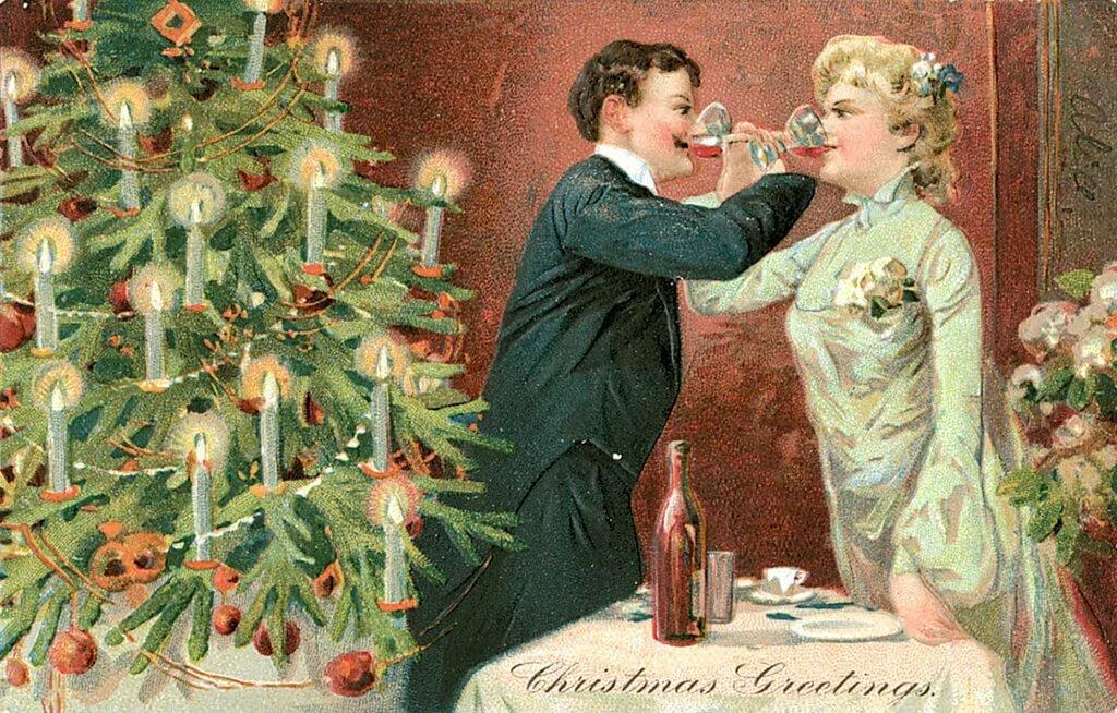 раритетная открытка с новым годом этой статьи узнаете