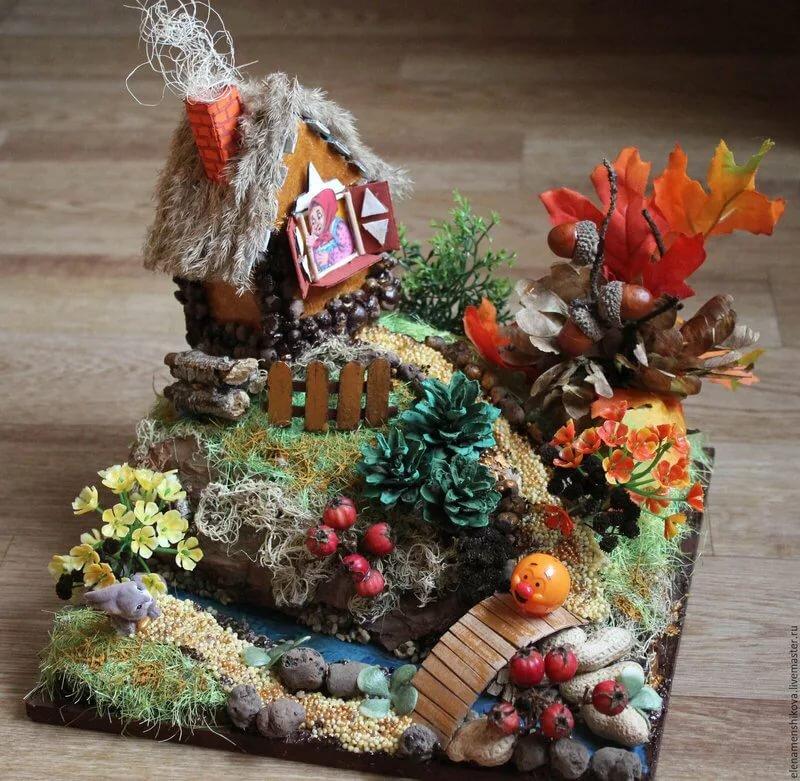 фото композиции из природных материалов с картинками мой