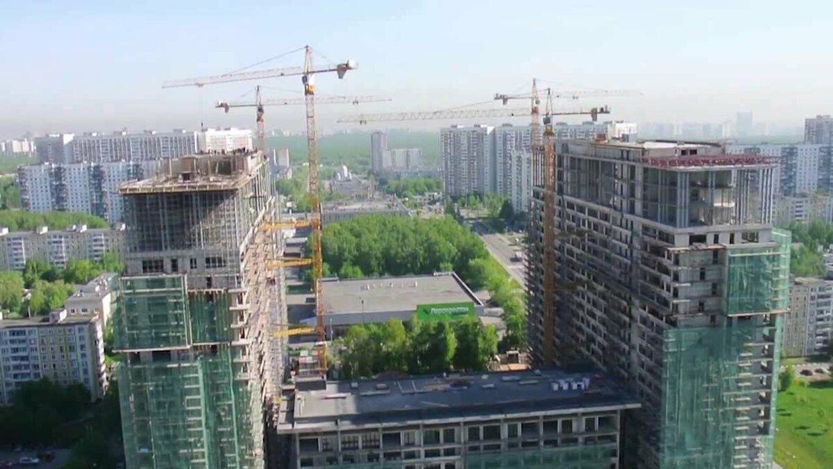 Фото московских новостроек в районе ясенево
