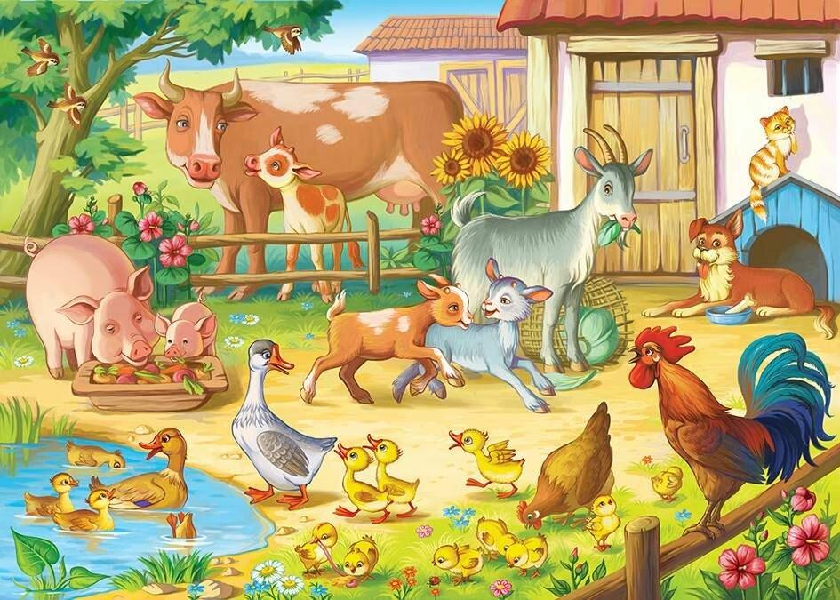 Открытка моя ферма, цветы открытку марта